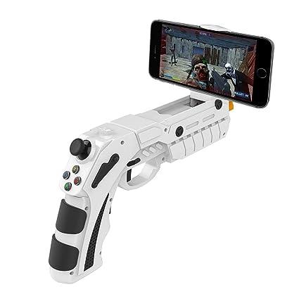 DZYXSB Bluetooth Spiel Gun AR Gamepad Wireless Game pad Für Android Smartphone Für iOS 7.0 iPhone X Unterstützung 4-6