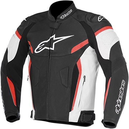 Alpinestars GP Plus R V2 Airflow Leather Motorcycle Riding Jacket Black/White/Red Mens Size 56 ()