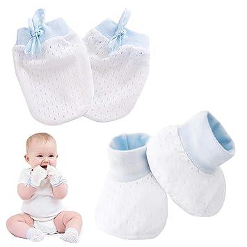 4e3629ade Amazon.com   Kalevel Baby Boy Mittens Booties No Scratch Newborn ...