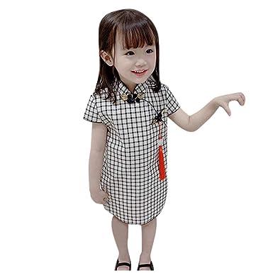 YWLINK 1-6 AñOs De Edad NiñA De Estilo Chino Cheongsam Vestido A ...
