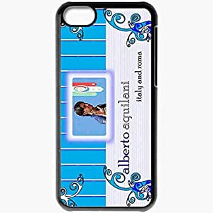 Personalized iPhone 5C Cell phone Case/Cover Skin Alberto Aquilani Italian Football Federation Alberto Aquilani Roma Liverpool Football Black