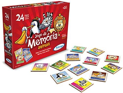 Jogo da Memoria Animais 24 Peças Xalingo