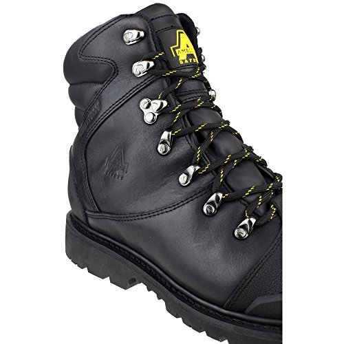 Amblers Safety Mens FS228 Leather Waterproof Safety Boots Black Black