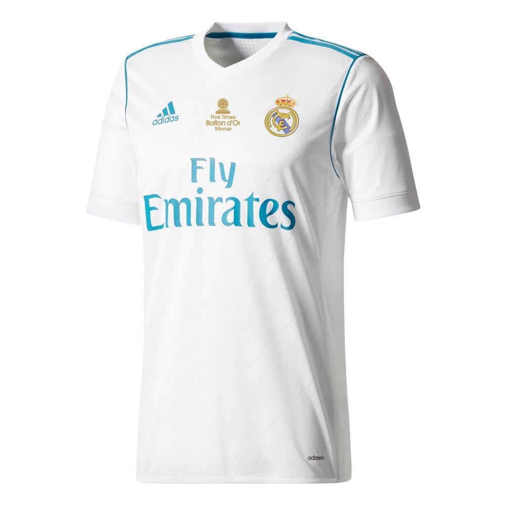 9946cb44e Player Print - adidas Performance Real Madrid Home Ronaldo 7 5x Ballon d Or  Authentic Shirt 2017 2018 inc Chest Transfer - XXXXL  Amazon.co.uk  Sports    ...