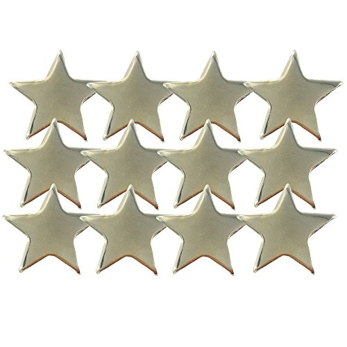 Pin Lapel Gold Star (3/4 Inch Gold Star Lapel Pin - Package of 12, Poly Bagged)