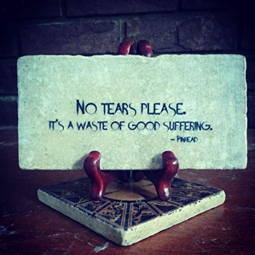 HELLRAISER No Tears Please Pinhead Quote Plaque -