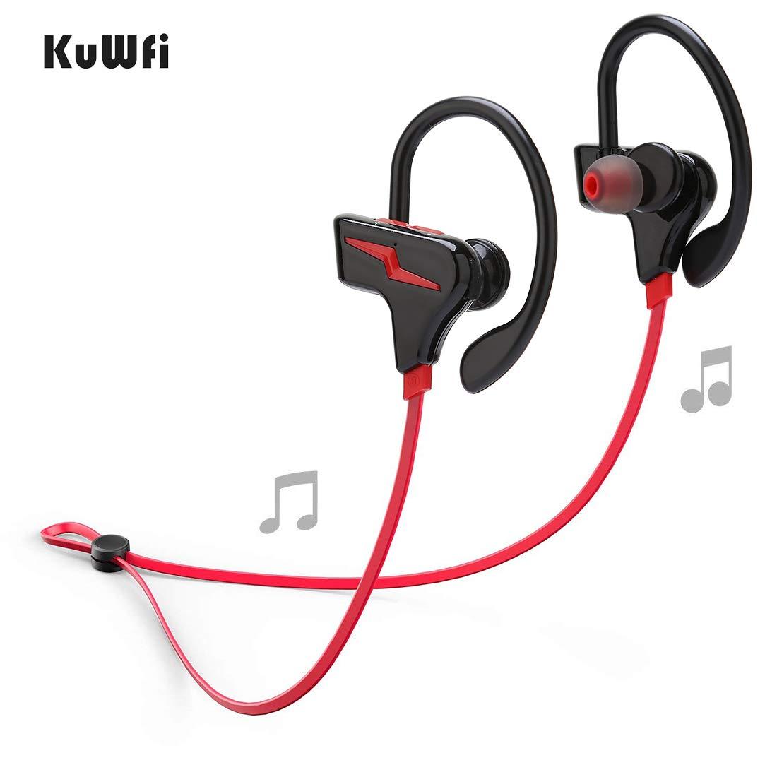 KuWFi Sport Bluetooth Headphones, Wireless Earphone With Mic Stereo Bluetooth Headset Wireless auriculares For Phone audifonos outdoor running
