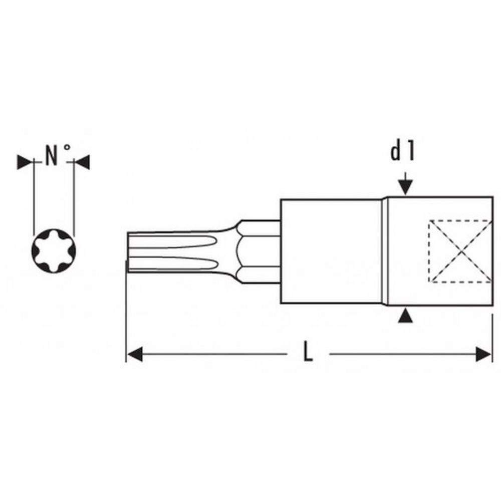 T15 EXPERT E030123 Bit-Steckschl/üssel 1//4 F/ür Torx Innensechskantschrauben