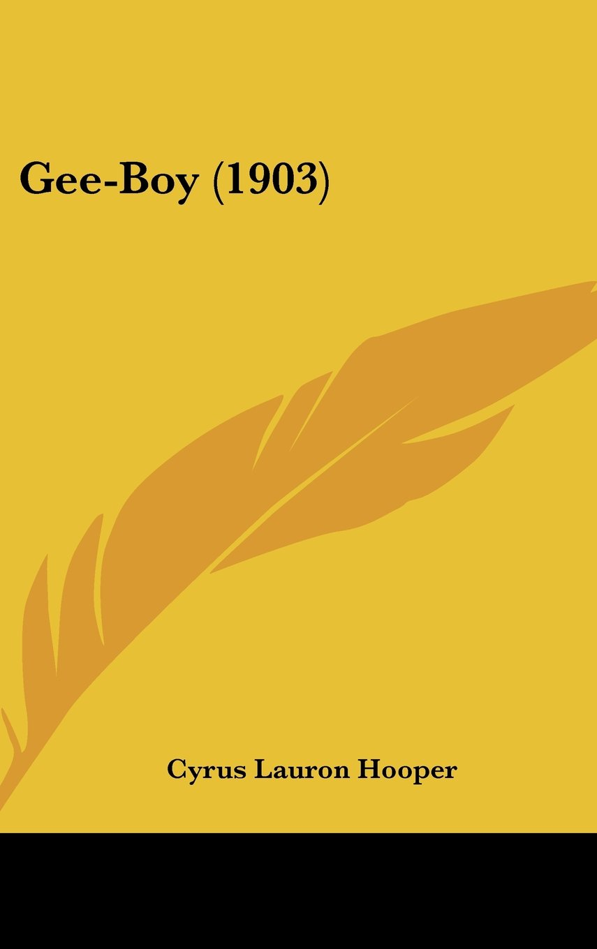 Gee-Boy (1903) ebook