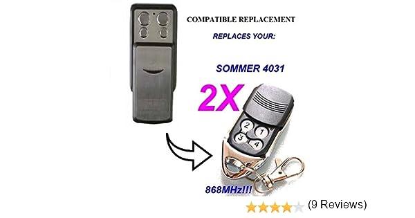 verano 4031 y verano 4025 Mando a distancia 2 canales, 868,8 Mhz Sommer 4026 TX03-868-4 Mando a distancia original de alta calidad 100/% compatible con verano 4020