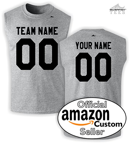Customized Sleeveless Jersey Your Team/Name/Number Personalized Sports ()