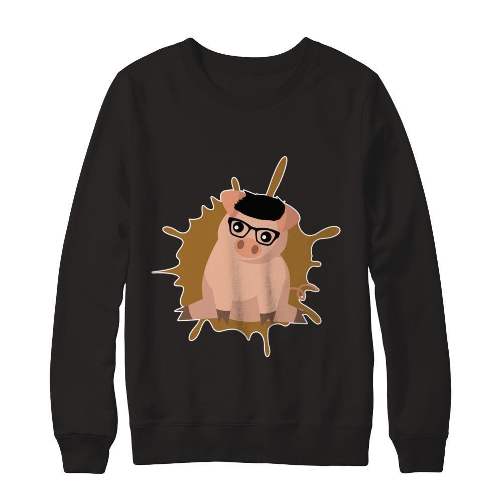Pullover Sweatshirt Teely Shop Womens Cute Pig Pig Lovers Love Animal Gildan