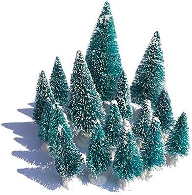Amazon Com Mini Snow Globe Christmas Trees Tabletop Fake Bottle