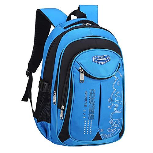 Lomsarsh Schoolbag for Teenagers Boys Girls Big Capacity Waterproof Book Kids Backpack Boys and Girls Fashion Casual Large Capacity Waterproof Backpack Student Backpack