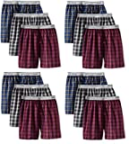 Fruit of the Loom 12Pack Boys Exposed-Waistband Boxers Boxer Shorts Underwear XL