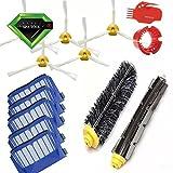 VCPS(TM) Filtros y Cepillos laterales y Cleaning Tool Reemplazo Kit para la iRobot Roomba 600 series 595 620 630 650 660 de Robot Vacío Limpieza