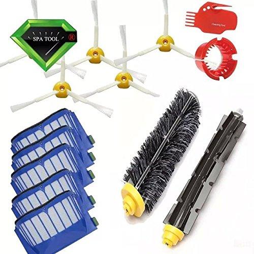 VCPS(TM) Filtros y Cepillos laterales y Cleaning Tool Reemplazo Kit para la iRobot Roomba 600 series 595 620 630 650 660 de...