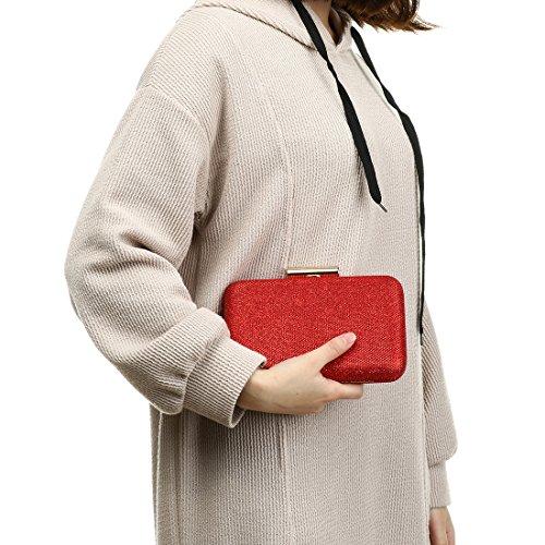 YYW  Evening Bag, Damen Clutch Rot rot