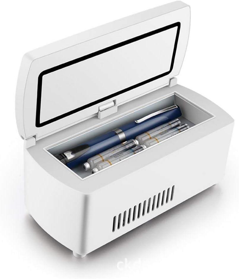 Refrigerado Por Insulina Caja Portátil Inteligente Incubadora De Drogas Mini Car Pequeño Refrigerador De Carga Termostato: Amazon.es: Salud y cuidado personal