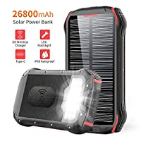Solar Charger 26800mAh, ORYTO Qi Wireles...