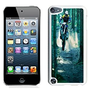 NEW Unique Custom Designed iPod Touch 5 Phone Case With Motocross Jump Forest_White Phone Case