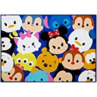Gertmenian Disney Tsum Tsum Rug Collage HD Digital Kids Bedding Room Décor Wall Decals Blue Area Rugs, 40x54, Navy