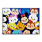 Disney Tsum Tsum Rug Collage HD Digital Kids Bedding Room Décor Wall Decals Blue Area Rugs, 40''x54'', Navy