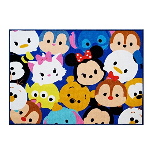 Gertmenian Disney Tsum Tsum Rug Collage HD Digital Kids Bedding Room Décor Wall Decals Blue Area Rugs, 40'x54', Navy