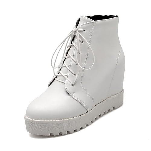 A&N - Scarpe con plateau donna , bianco (White), ...