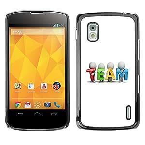 """For LG Nexus 4 E960 , S-type EQUIPO"""" - Arte & diseño plástico duro Fundas Cover Cubre Hard Case Cover"""
