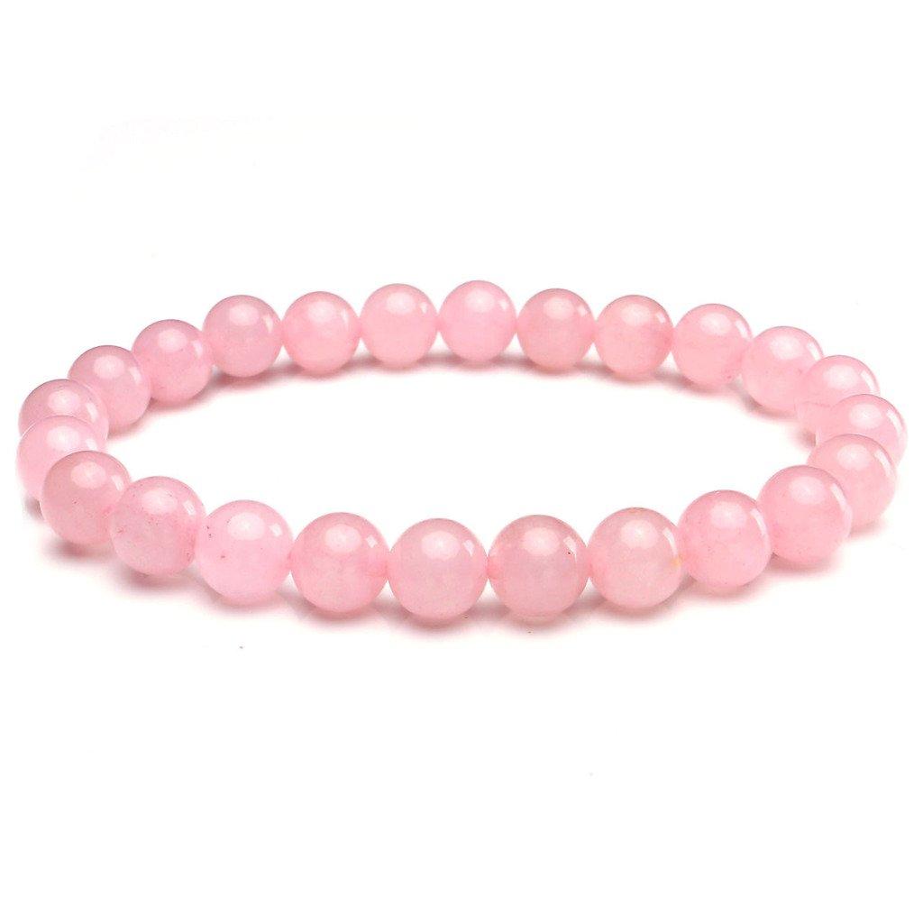 Jovivi 8MM Natural Gemstone Healing Power Round Elastic Stretch Bracelet Variation Colors Material AJ10104258