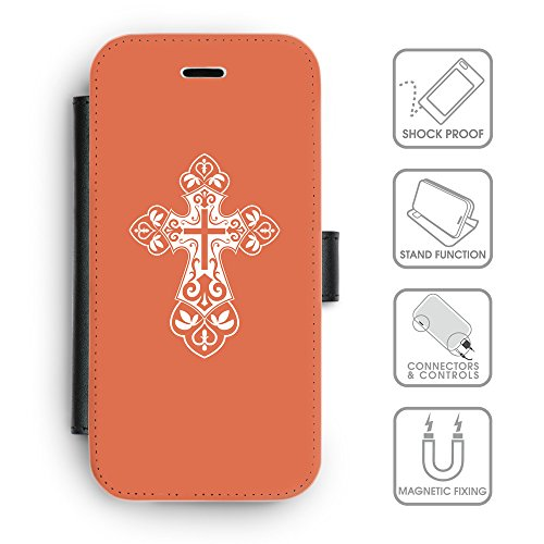 GoGoMobile Coque de Protection TPU Silicone Case pour // Q09240614 Croix chrétienne 34 Rougir // Apple iPhone 7