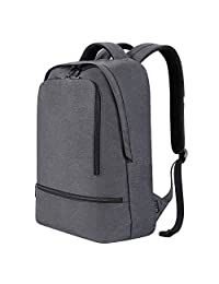 Laptop Backpack, REYLEO Daypack Backpack Travel School Bag Women Men Water Resistant Rucksack Notebook for Business College Work Travel backpack Grey