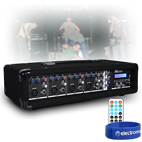 Power Dynamics 4 Channel 800w Bluetooth Mixer Amplifier with Remote for...