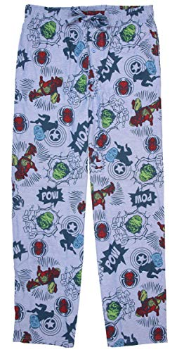 Marvel Superheroes Comic Book Mens size Large waist 36-38 Sleep cotton ()