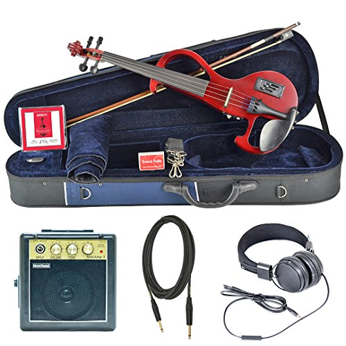 Bunnel EDGE Forte Electric Violin Outfit (Rockstar Red) Amp Included by Kennedy Violins