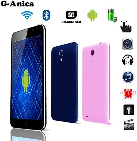g-Anica Tablet Smartphone 5 Pulgadas (12, 7 cm) Phablet Libre 3 G- Android 4.2, Dual Core, (854 x 480, cámara Doble, Doble Tarjeta SIM, Bluetooth, Wi-Fi, 4 GB ROM, 512mbo RAM) – Rosa: Amazon.es: Electrónica