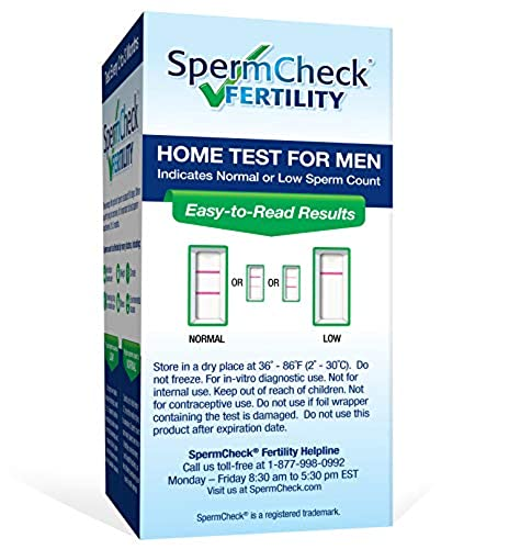 Shows Normal or Low Sperm Count Private Spermcheck Fertility Home Test Kit for Men Accurate Easy to Read Results-Convenient