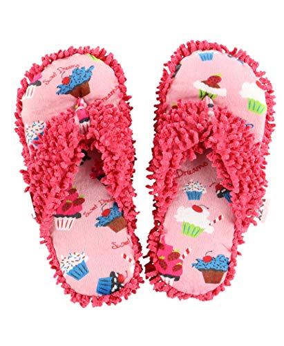 Slippers Dreams (Sweet Dreams Spa Flip Flop Fuzzy Slippers by LazyOne   Cute Design Fuzzy Thong Slippers (L/XL))