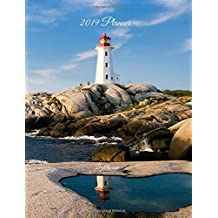 "2019 Planner – Lighthouse: Weekly and Monthly Calendar - Page size is 7.5"" x 9.75"