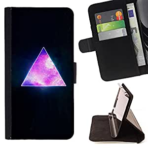 For Sony Xperia Z1 Compact D5503 Pyramid Space Cosmos Galaxy Universe Triangle Style PU Leather Case Wallet Flip Stand Flap Closure Cover