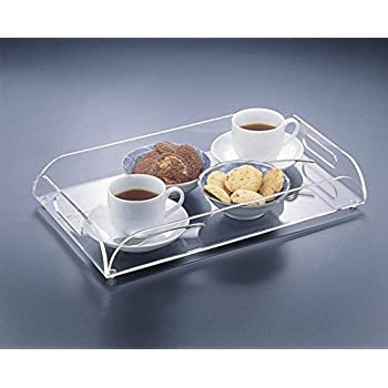 Amazon.com  A4 Clear Acrylic Serving Tray, Coffee Table Tray Breakfast Tray with Handles