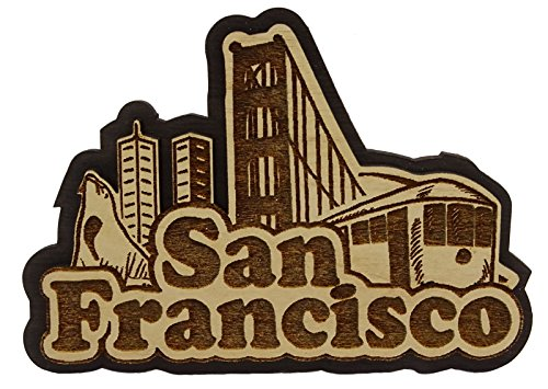 San Francisco Wood Engraved Wooden Magnet Magnet Souvenir Gift