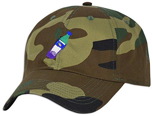 Lean Codein Dirty Sprite Emoji Memes Embroidered Dad Hat Baseball Cap Adjustable (Woodland Camouflage) ()