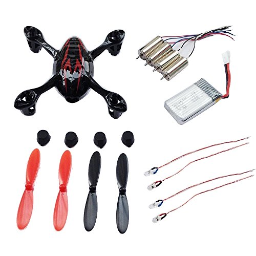 UUMART Hubsan X4 H107C RC Quadcopter Body Shell Crash Pack- Black/Red by UUmart