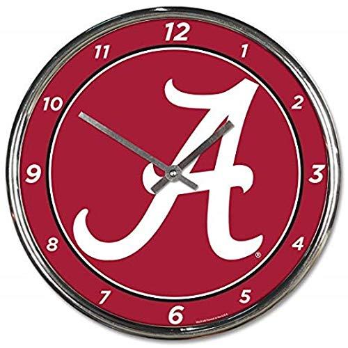 Inch 12 Wall Clock Football - Alabama Crimson Tide NCAA 12 Inch Round Chrome Plated Wall Clock
