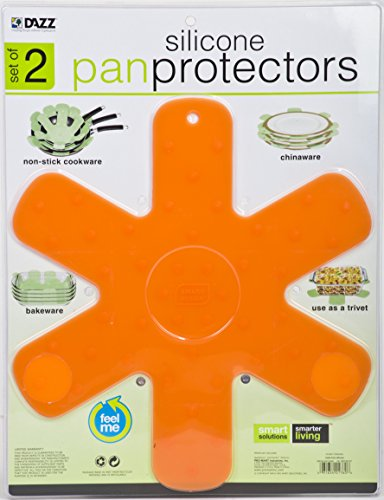 Pro-Mart Silicone Pan and Plate Protector (Set of 2), Large, Orange