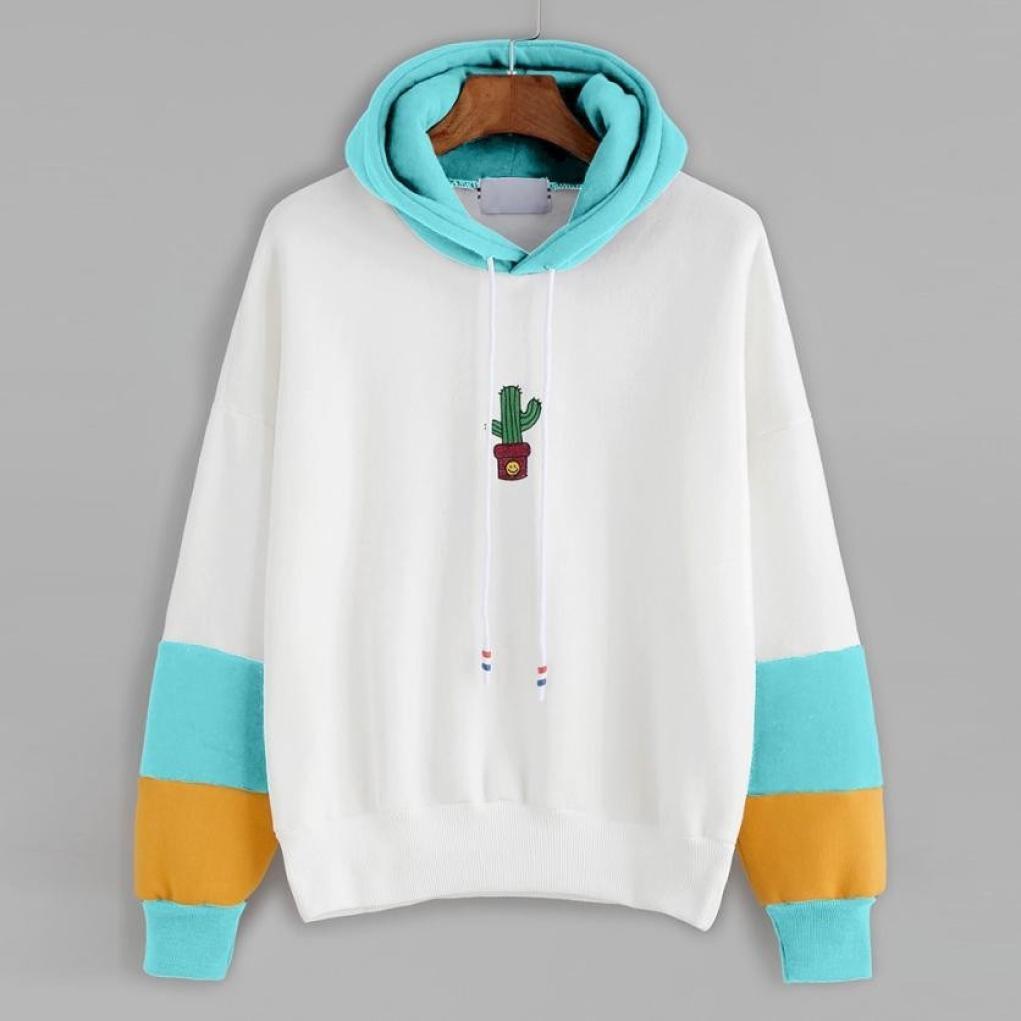 Camisa de Entrenamiento Mujer, Covermason Sudadera con Capucha y Estampado de Cactus para Mujer: Amazon.es: Ropa y accesorios