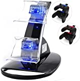 Xbox One, Xbox One S Charging Dock with LED Light, Xbox One Controller Charger Charging Docking Station Stand with USB Charging Cable for Xbox One S Controller (Battery is not includede)