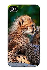New Premium Standinmyside Cheetah Cub Skin Case Cover Design Ellent Fitted For Iphone 4/4s For Lovers